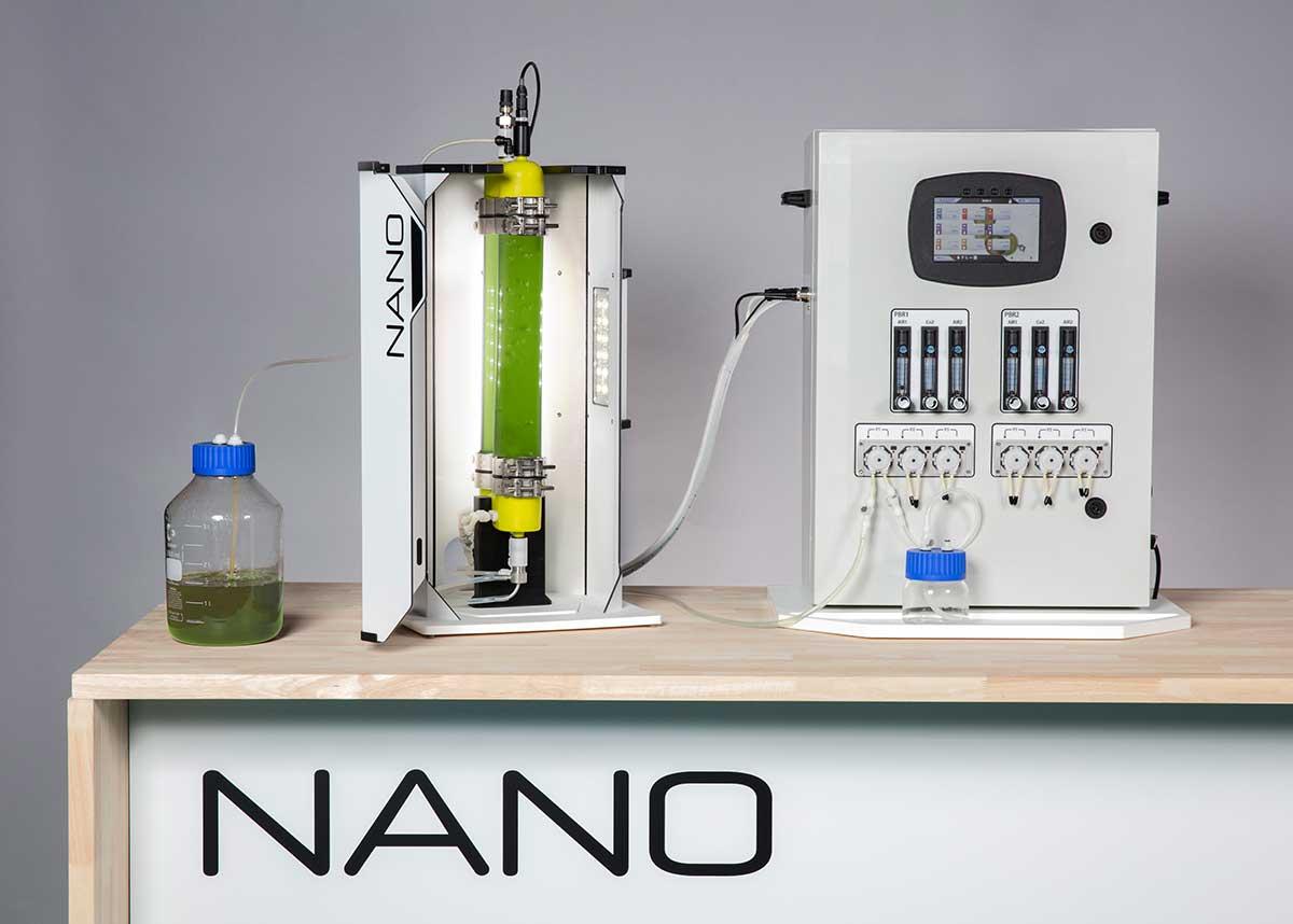 Photobioréacteur sur paillasse pour la culture de microalgues